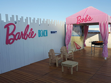 "Costa Galana - Corpóreo para el sector de ""Barbie Beach"" dentro de la playa de Costa Galana"